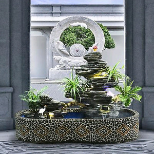 Outdoor Fountain landscaping