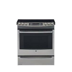 GE Stainless Steel 30 In. Slide-In Electric Self Cleaning