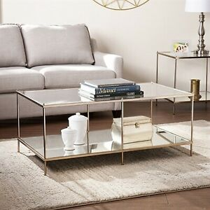 Brand new in box glass, metal coffee table