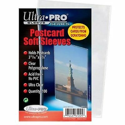200 Standard Ultra Pro Postcard Sleeves 3.68 X 5.75 Archival Safe Acid Free