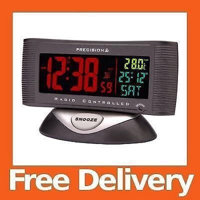 radio controlled digital alarm clock ebay. Black Bedroom Furniture Sets. Home Design Ideas