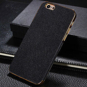 Luxury PU Leather Chrome Hard Back Case CoverFor Apple 6- New