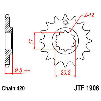 Zahnstange JT JTF1906,14