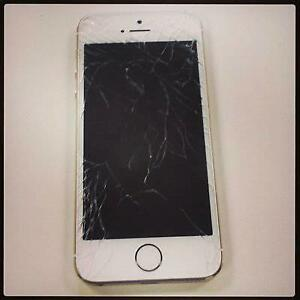APPLE iPHONE 5 / 5C / 5S / SE CRACKED SCREEN,CHARGING PORT,CAMERA,BATTERY + MORE