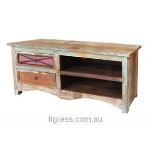 """NEW """"Collaroy"""" Hardwood TV Entertainment Unit 2 Drawer 120cm Castle Hill The Hills District Preview"""