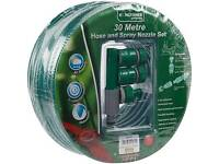 Sealed Kingfisher Garden Hose with Spray Nozzle Set 30m