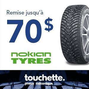 Jusqu'à 70$ en carte prépayée à l'achat de 4 pneus sélectionnés