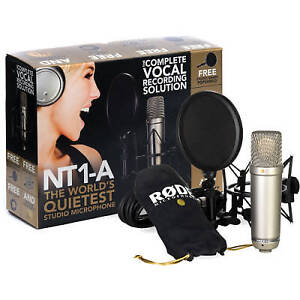 Rode Studio Microphone package and ambient noise attenuator