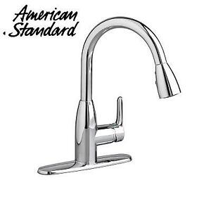 OB AMERICAN STANDARD COLONY FAUCET 4175300F15.002 226087145 SOFT PULL DOWN KITCHEN AERATOR POLISHED CHROME OPEN BOX