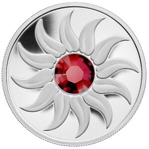 2011 Canada $3 Birthstone Collection - July (Ruby) Silver