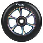 CHILLI - TURBO black PU/ rainbow core 110mm - Step Wiel