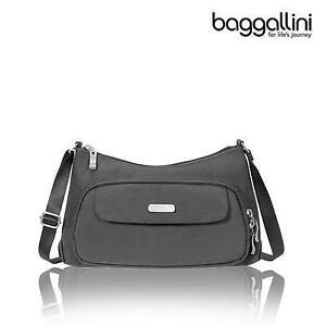 Baggallini EVB477CLFS  - Classic Crossbody Bag  Charcoal (New Other)