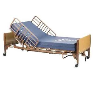 new in box hospital bed with mattress ,rails, cover sheets T647-