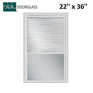 NEW ODL LIGHT TOUCH ENCLOSED BLINDS 302970 213851146 DOOR GLASS WITH HP FRAME 22'' x 36''