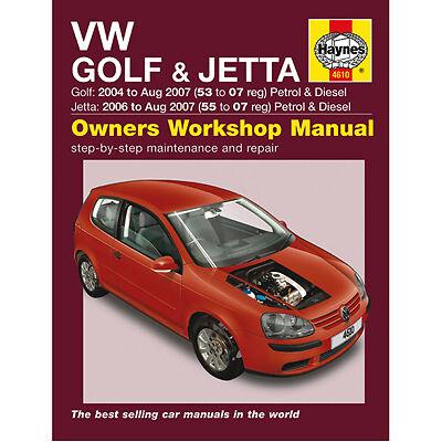 New Haynes Manual VW Golf Jetta 04-07 Car Workshop Repair Book 4610