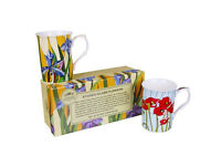 The Leonardo Collection Set of 2 Stained Glass Flowers Fine China Boxed Mugs £8