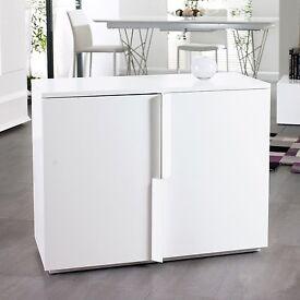 Dwell white matt sideboard