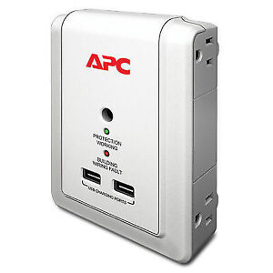 APC - Essential SurgeArrest 4 Outlet Wall Mount with USB, 120V 1