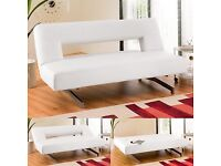 Dwell Pisa double sofa bed - white faux leather