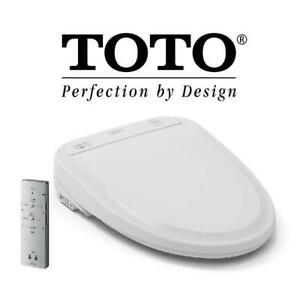 NEW TOTO WASHLET ENLONGATED SEAT - 122159351 - Washlet S350e Toilet Seat-Elongated with Ewater Plus, Cotton