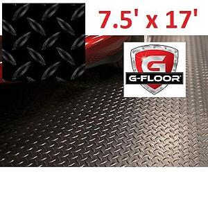 NEW G FLOOR DIAMOND FLOOR COVER GF75DT717MB 225014646 7.5' x 17' DIAMOND TREAD COMMERCIAL GRADE SLATE BLACK