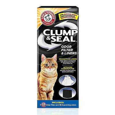 ARM & HAMMER Clump & Seal Odor Filter and Liners 15 drawstring Liners