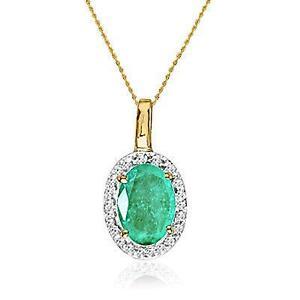 Emerald pendant ebay gold emerald pendants aloadofball Choice Image