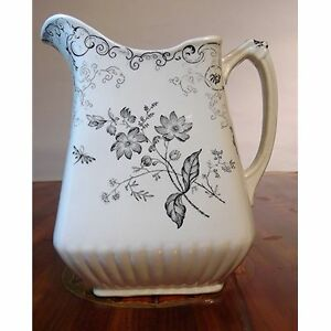 Victorian Transferware Pitcher