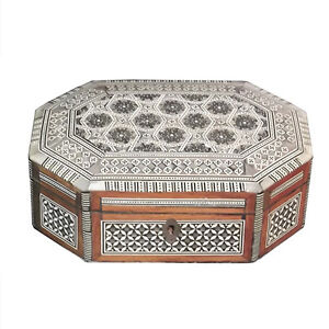 Vintage Inlaid Octagonal Box