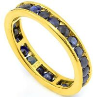 2.32CTW. GENUINE DARK BLUE SAPPHIRE CRAFTED IN STERLING & PLATIN