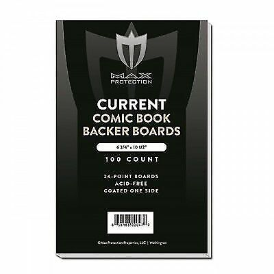 500 - MAX PRO CURRENT MODERN COMIC BOOK BACKING BOARDS 6-3/4 ACID FREE ARCHIVAL
