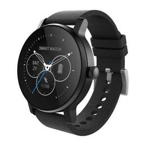 Smart Watch - LEATHER BAND BLACK HEART RATE MONITOR Richmond Yarra Area Preview