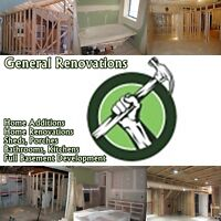 ***GENERAL CONTRACTING SERVICES, RESIDENTIAL AND COMMERCIAL***
