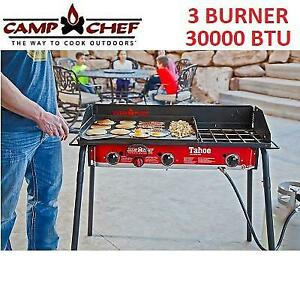 NEW CAMP CHEF TAHOE OUTDOOR STOVE TB90LW 252684748 3 BURNER 30000 BTU