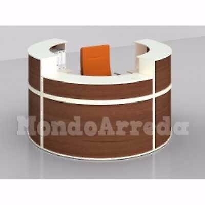 KALAHARI - Laminated wood reception desk. Suitable for