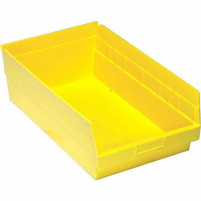 Plastic Storage Bins Yellow 11l X 8 W X 4 H 10pcs