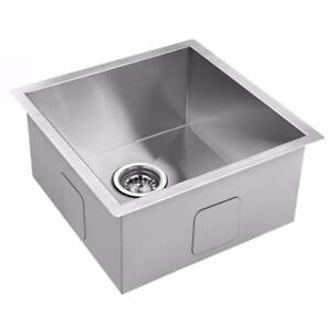 Stainless Steel Single Bowl Sink Square Modern Design 440x440mm Kings Beach Caloundra Area Preview