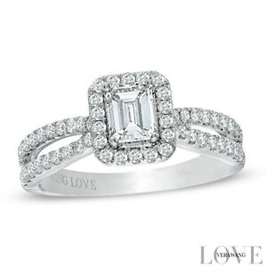 VERA WANG LOVE COLLECTION WITH .60CT VS2,F-G CENTER DIA