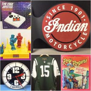 VINTAGE COLLECTOR AUCTION! 800+ LOTS! Furniture, Decor, Tools, Collectibles, Electronics, Toys, Art, Sports and MORE!