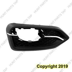 Fog Light Bezel Driver Side Chrome/Black Without Trim Ring Coupe Except Si Models Honda Civic 2014-2015