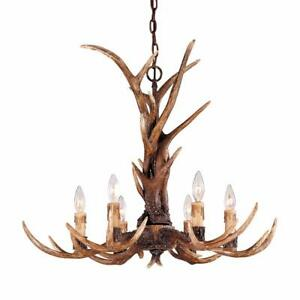 This Savoy House Blue Ridge antler chandelier has a unique and stunning look thanks to its  highly detailed design.