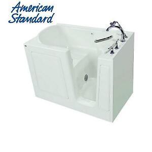 NEW* AMERICAN STANDARD WALK IN TUB 3151.409.SRW-PC 224591817 51'' x 31'' SOAKING QUICK DRAIN