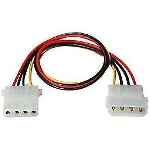 """TechCraft 12"""" Internal Molex (LP4) Power Extension Cable"""