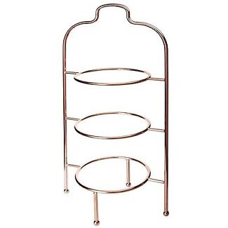 Cake/Plate Stands, Set of 4, Silver, Gold and Rose Gold