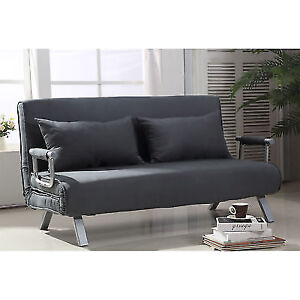 HOMCOM Convertible Sofa Bed Adjustable Sleeper Lounger Chair Living ...