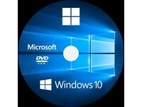 Microsoft Windows 10 or 7 Pro 64 bit & Free maintenence ( check CPU, Memory & Motherboard) FREE dvd!