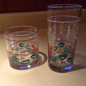 verres de Noël