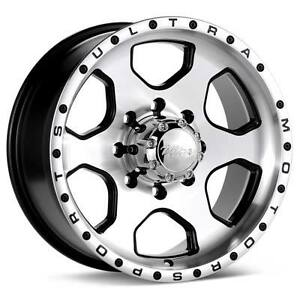 ROUES (MAGS) ULTRA 175 ROGUE NOIR/MACHINÉ 15X8.0 6-139.7 -19
