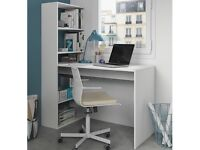 White desk and book case BRAND NEW still in box