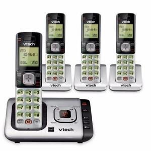 Téléphone sans fil DECT à 4 combinés avec répondeur et afficheur VTech ( CS6729-4 )